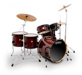 Mapex Meridian Birch 6265 LIMITED Drumset, Cherry Red