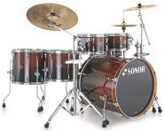 Sonor Essential Force ESF Stage S Drive Drumset, Brown Fade