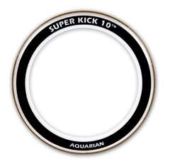 "Aquarian 20"" Super Kick Ten clear Bassdrum Fell"