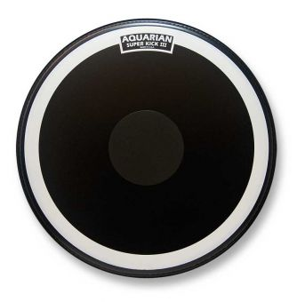"Aquarian 22"" Super Kick III coated schwarz Bassdrum Fell"