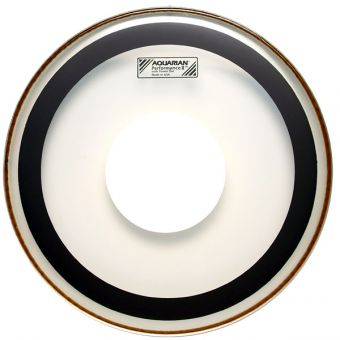 "Aquarian 14"" Performance 2 clear Tom Fell, Power Dot"