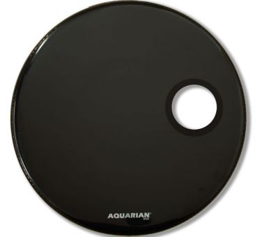 "Aquarian 20"" Regulator Bassdrum Fell schwarz, Loch rechts"