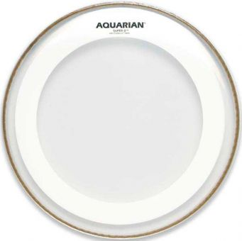 "Aquarian 13"" Super 2 clear Tom Fell, Muffle Ring"