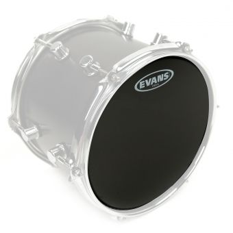 "Evans 8"" Onyx Tom Fell Pitch Black Coated"
