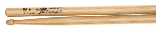 Los Cabos 5B Intense Red Hickory Drumsticks