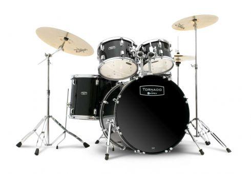 Mapex Tornado TND5045TZDK Komplett Drumset, Black