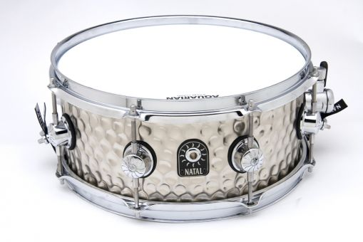 "Natal 14"" x 5,5"" Hand Hammered Chrome Snare"