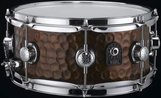 "Natal 10"" x 5,5"" Hand Hammered Old Bronze Snare Drum"