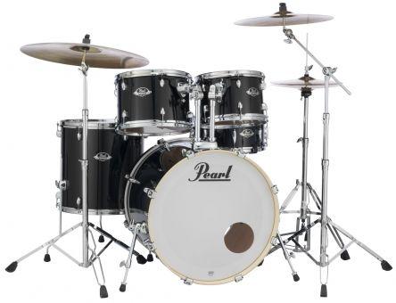 Pearl EXX725SBR Export Drumset, Jet Black