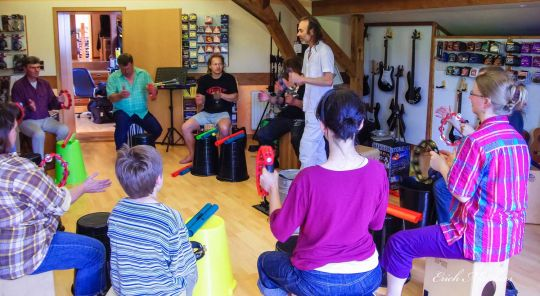 Percussion Mitmach Workshop mit Pitti Hecht 03.06.2018